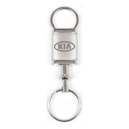 Double Valet Keychain (Kia Satin Chrome Valet)