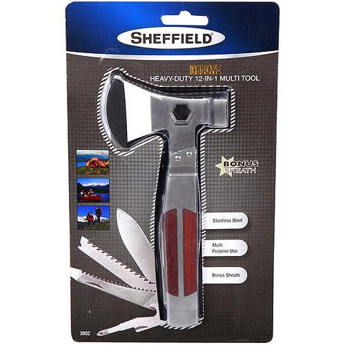 Sheffield Deluxe Heavy-Duty 12-in-1 Multi Tool with Bonus Sheath
