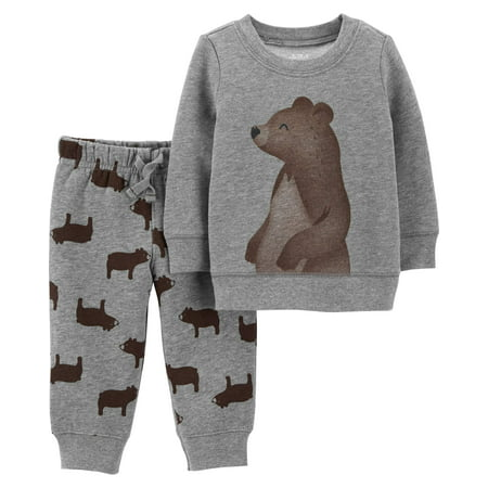 Long Sleeve Fleece Top & Jogger Pants, 2-Piece Outfit Set (Toddler Boys) - Elf Outfits For Toddlers