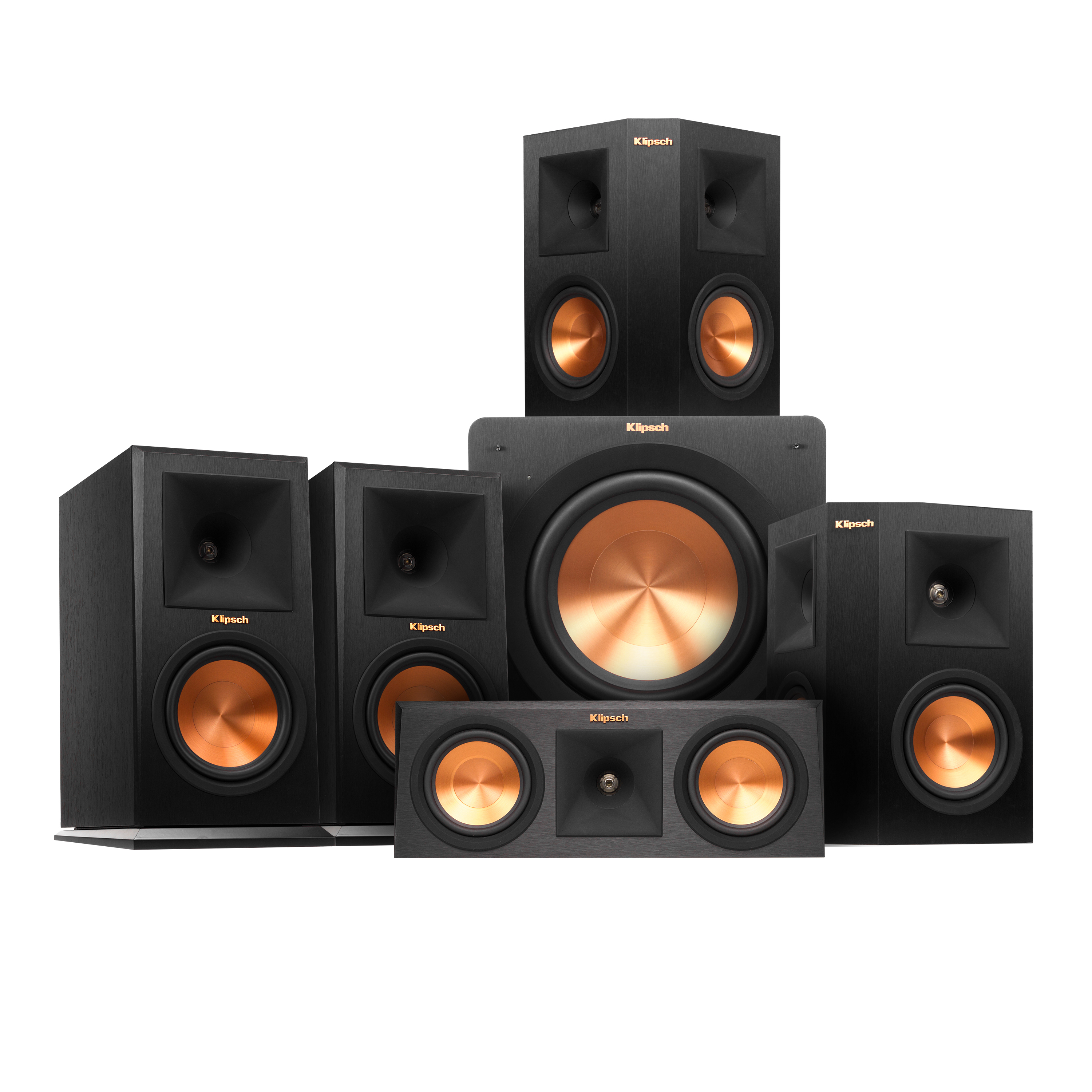 """Klipsch 5.1 RP-160M Reference Premiere Speaker Package With R-110SW 10"""" Subwoofer by Klipsch"""