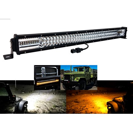30 Quot Amber White Dual Color Led Light Bar Harness Anti