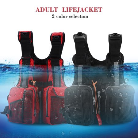 Paddling Suit - EECOO Drift Life Vest,Adults Lifesaving Vest Life Jacket with Whistle Swimming Fishing Drift Suit, Adults Fishing Life Vest