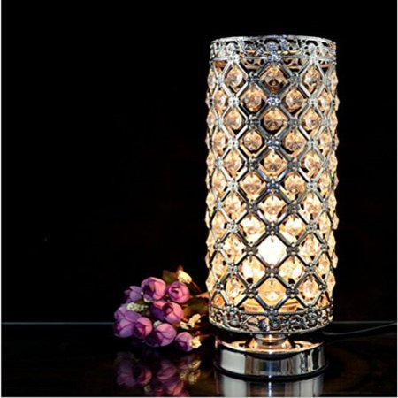Stacked Crystal Table Lamp - Crystal Silver Table Lamp