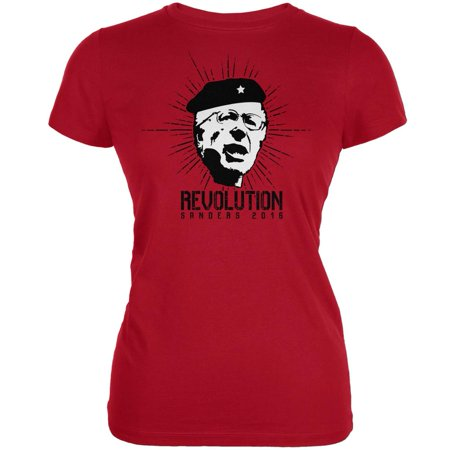 Election 2016 Bernie Sanders Che Guevara Parody Red Juniors Soft T-Shirt for $<!---->