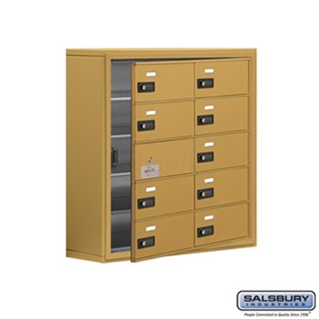 SalsburyIndustries 19158-10GSC Cell Phone Storage Locker With Front Access Panel - 5 Door High Unit, Gold - image 1 of 1