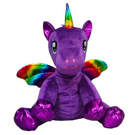 Cuddly Soft 16 inch Stuffed Luna the Purple Winged Unicorn.  We Stuff 'em.  You Love 'em! ()