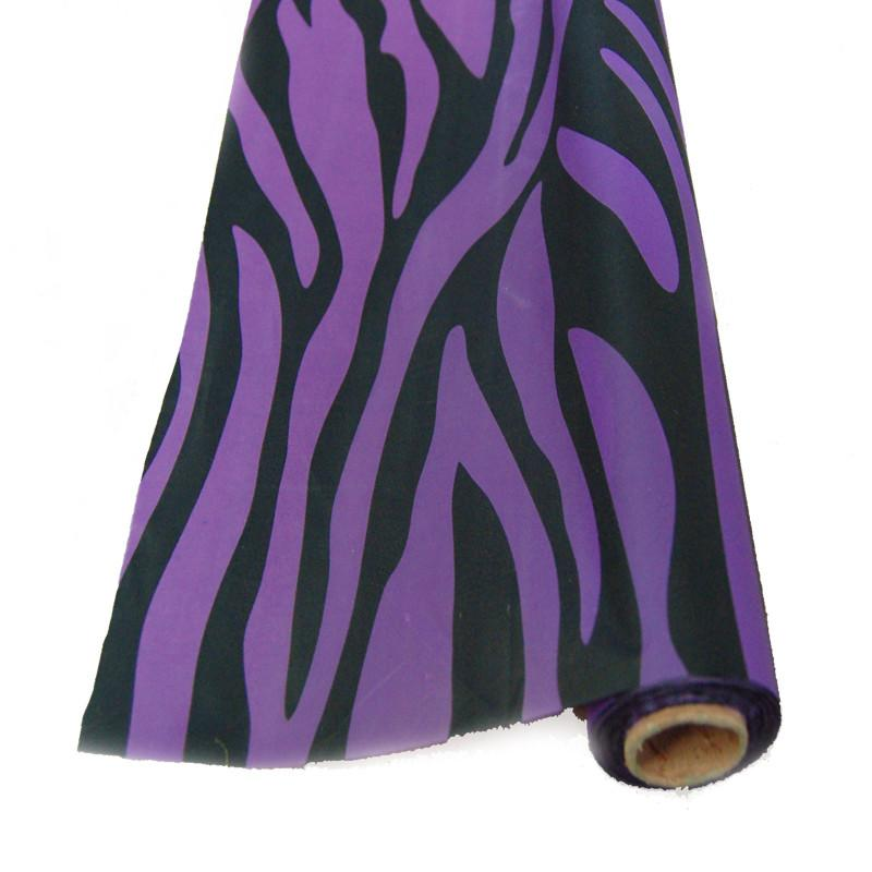 Zebra Banquet Plastic Table Uncut Roll, 40-Inch x 100-Feet, Purple