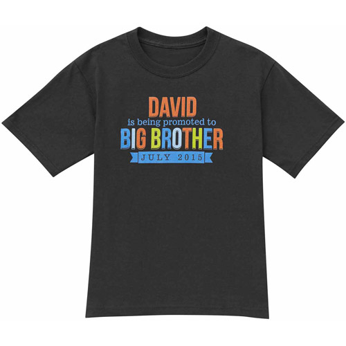 Personalized The Sibling Promotion Big Brother Toddler T-Shirt by