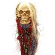 Life-Size Hanging Skull with Hands Halloween Accessory