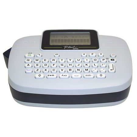 Brother P-touch, PTM95, Handy Label Maker, 9 Type Styles, 8 Deco Mode  Patterns, White