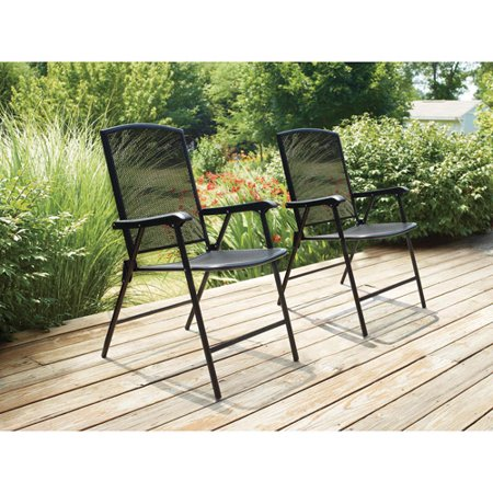 Mainstays Wrought Iron Folding Chair Walmart Com
