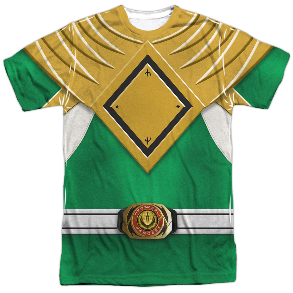 Mighty Morphin Power Rangers Green Ranger (Front Back Print) Mens Shirt