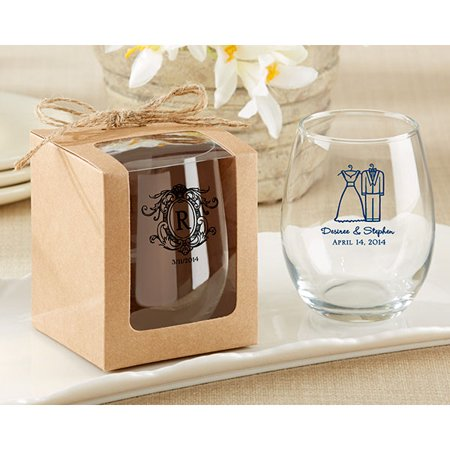 Kraft Stemless Wine Glass Gift Box Set Of 12