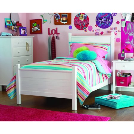 Your Zone Zzz Place To Be Twin Bed White