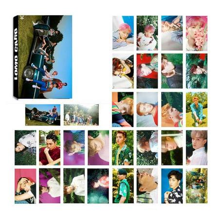 Fancyleo Kpop EXO Members Photo Postcard Lomo Cards Set Gift for - Expo Photo