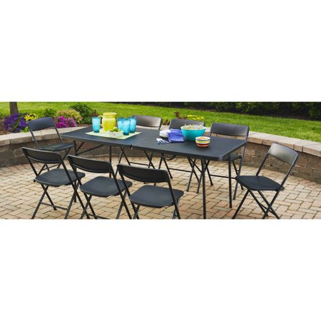 Mainstays 6 Fold In Half Table  Black