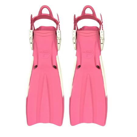 Scuba Choice Palantic Open Heel Rubber Dive Fins with Bag, Pink(XS)