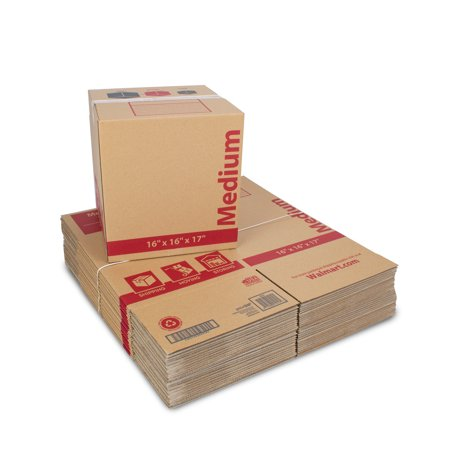 Medium Recycled Moving Boxes 16L x 16W x 17H (25 Count) (Coat Moving Box)