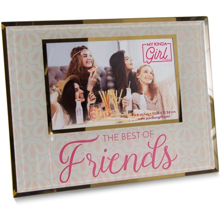 Pavilion - The Best Of Friends - Pink & Gold Decorative 4x6 Picture