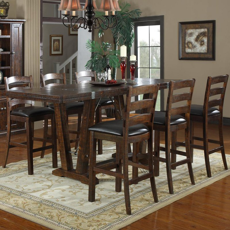 Emerald Home Castlegate 7 Pc. Bar Height Table Set - Walmart.com - Walmart.com