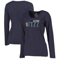 Utah Jazz Fanatics Branded Women's Plus Size Primary Logo Long Sleeve T-Shirt - Navy