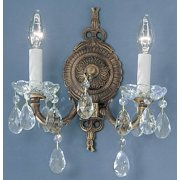 11 in. Madrid Wall Sconce in Roman Bronze Finish (Crystalique)