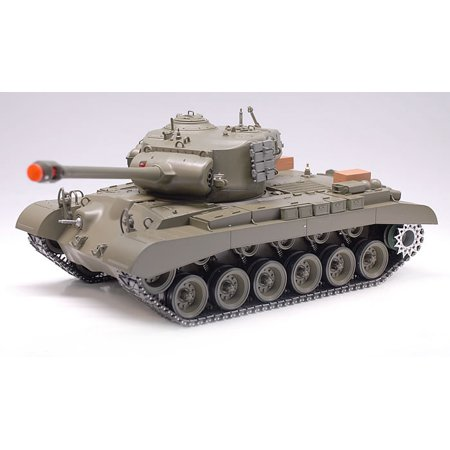 2.4Ghz Radio Remote Control 1/16 US M26 Pershing (Snow Leopard) RC Airsoft Battle Tank w/Sound & Smoke R/C RTR
