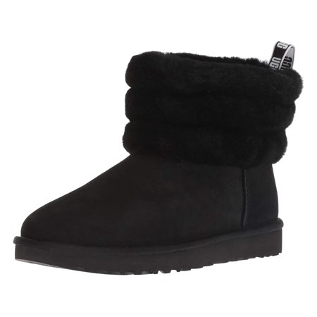 Ugg Women's W Fluff Mini Quilted Fashion Boot, Black, Size 5.0 ()