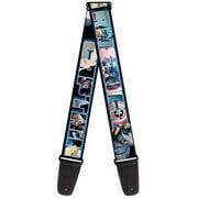 captain america marvel comics superhero cartoon collage guitar strap