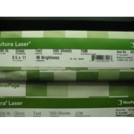 Futura 8-1/2 x 11-Inch Laser Gloss Paper 80 lb (35 Text Weight Paper)
