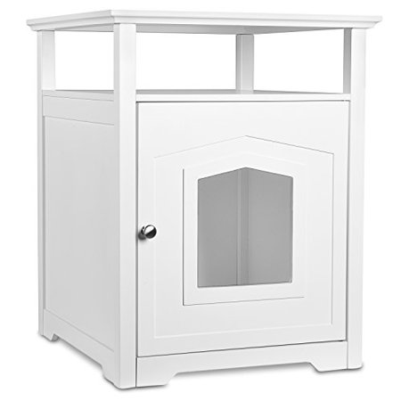 Arf Pets Designer Enclosed Cat Litter Furniture Box House with Table - image 6 of 6