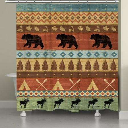 Laural Home Bear Lodge Shower Curtain