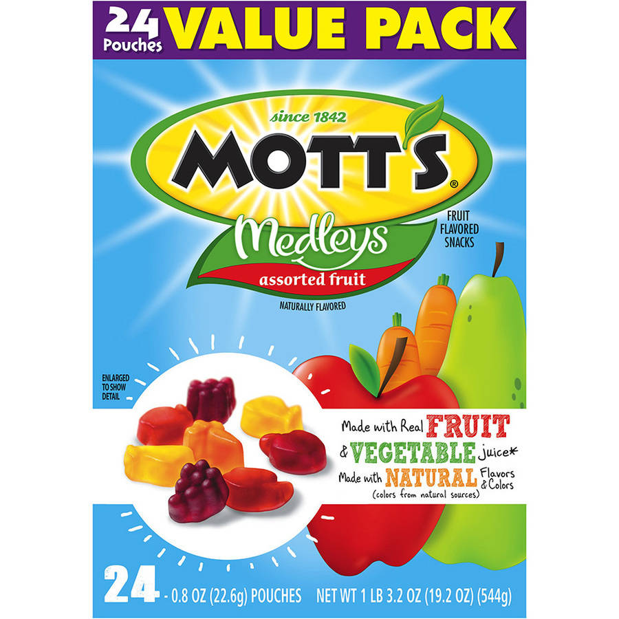 Mott's? Medleys Assorted Fruit Flavored Snacks 24-0.8 oz. Pouches