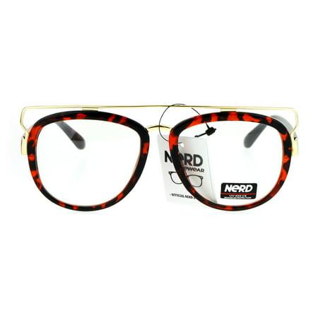 SA106 Nerd Wire Horn Rim Double Frame Vintage Aviator Eye Glasses (Wire Rimmed Glasses Frames)