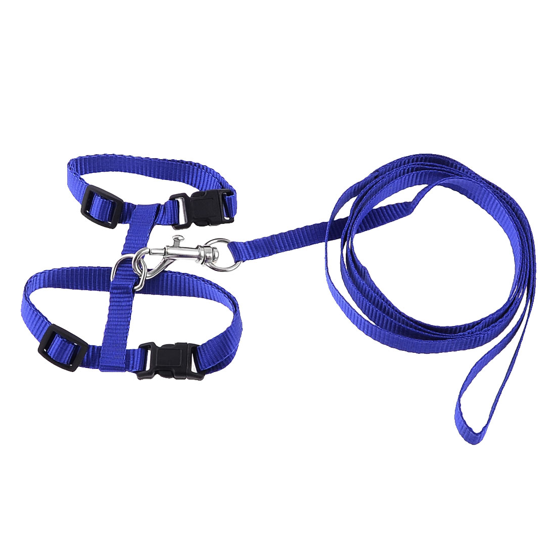 Unique Bargains Nylon Trigger Hook Adjustable Pet Puppy Dog Harness Vest Set Size XS w Leash