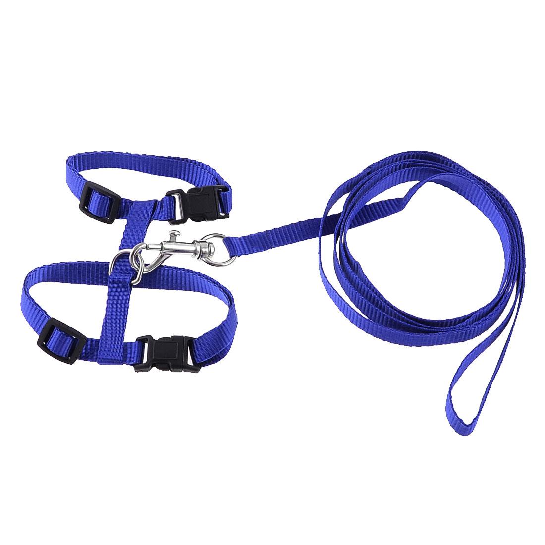 Unique Bargains Nylon Trigger Hook Adjustable Pet Puppy Dog Harness Vest Set Size XS w Leash