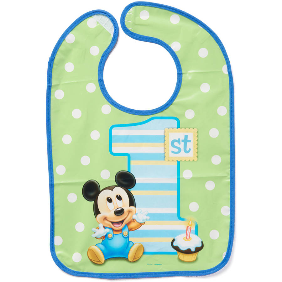 Mickey Mouse First Birthday Bib, Party Supplies