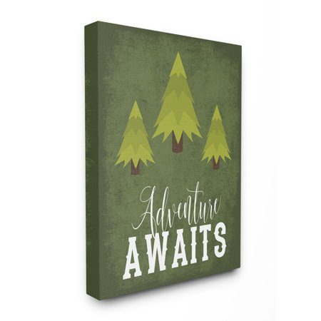 The Kids Room by Stupell Adventure Awaits Green Trees Oversized Stretched Canvas Wall Art, 24 x 1.5 x 30