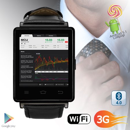 Indigi  3G Gsm Unlocked Smart Watch   Phone Android 5 1 Os Wifi   Gps Maps    Google Play   Heart Rate
