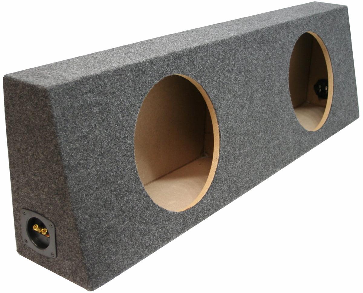 Car Audio Dual 10 Inch Sealed Truck Reg Cab Subwoofer Enclosure Speaker Sub Box