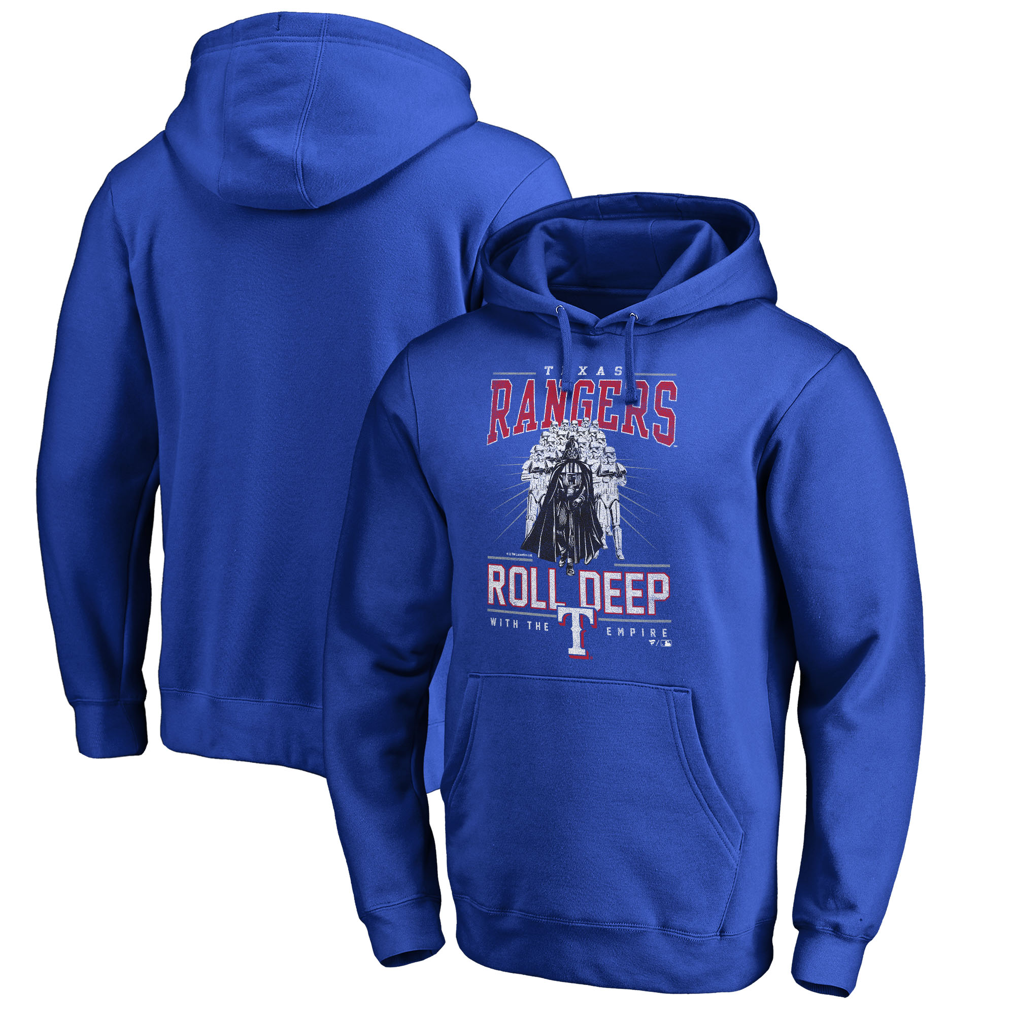 Texas Rangers Fanatics Branded Roll Deep with the Empire Pullover Hoodie - Royal