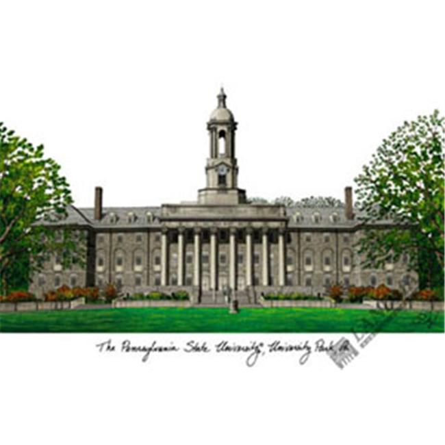 Penn State  University Campus Images Lithograph Print
