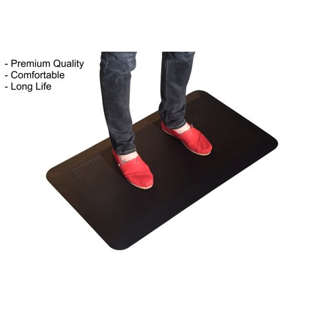 Thick Cushioned Anti-Fatigue Floor Mat for Office Standing Desk ...