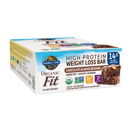 Garden of Life Organic Fit Bar Chocolate Almond Brownie (12 per