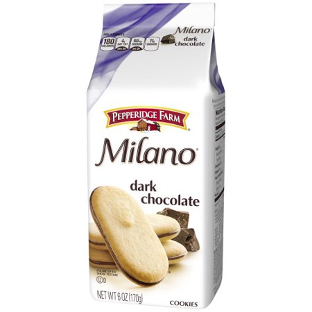 (3 Pack) Pepperidge Farm Milano Dark Chocolate Cookies, 6 oz. Bag