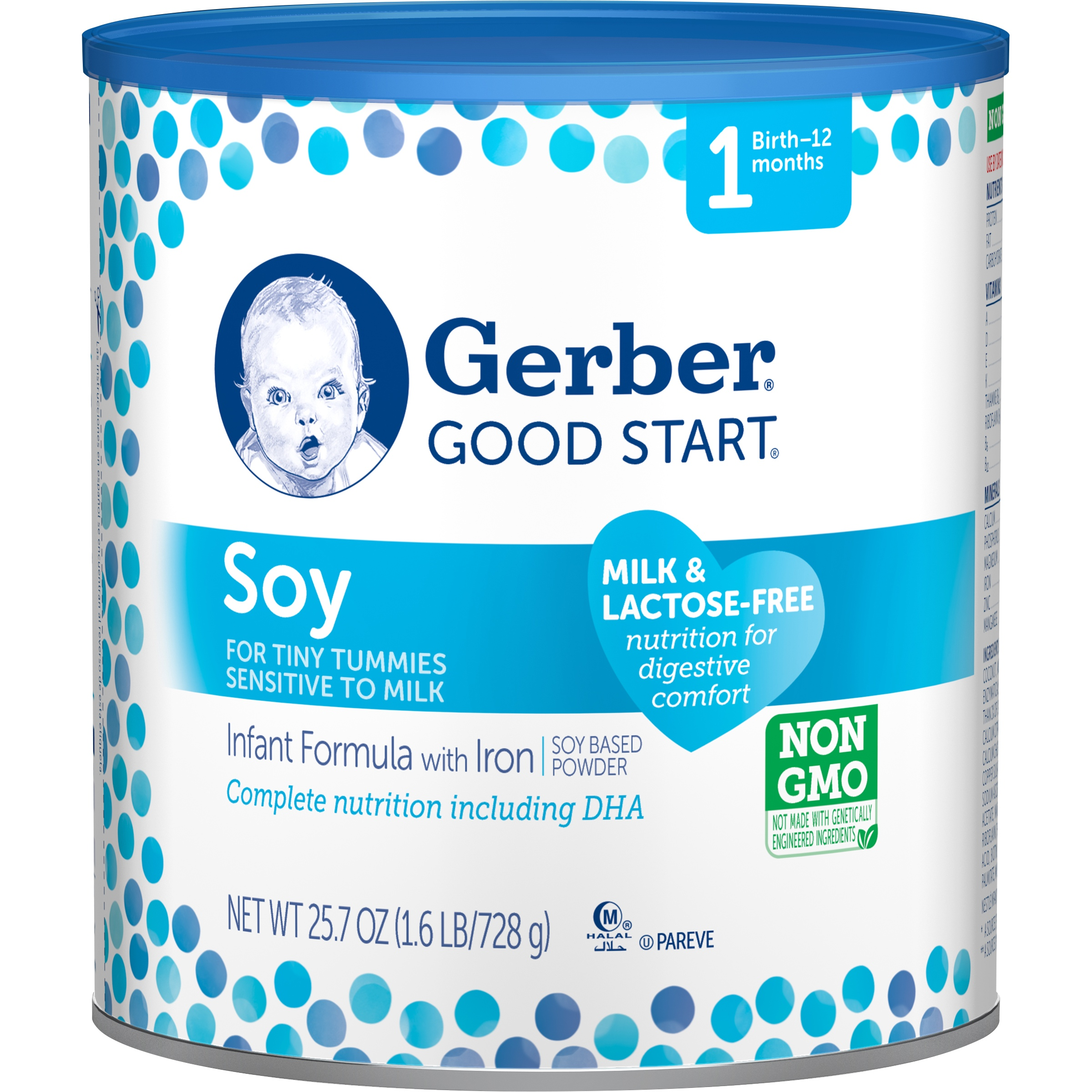 Gerber Good Start Soy Non-GMO Powder Infant Formula, Stage 1, 25.7 oz