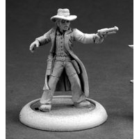 Reaper Miniatures Gunslinger #59007 Savage Worlds Unpainted RPG D&D Mini Figure
