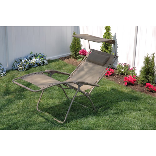 Bliss Wide Gravity-Free Recliner with Sunshade, Multiple Colors