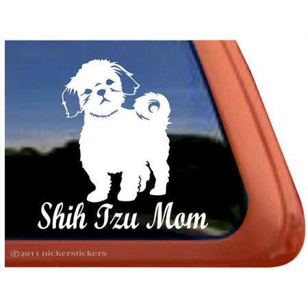 Shih Tzu Mom | Vinyl Adhesive Dog Window Decal