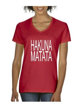 90f5449925b9 Product Image New Way 435 - Women's V-Neck T-Shirt Hakuna Matata The Lion  King
